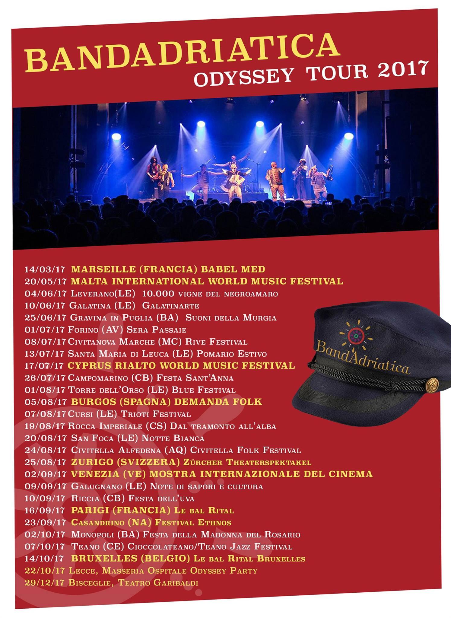 tour BandAdriatica 2017